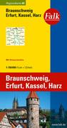 Falk Regionalkarte 08. Braunschweig, Erfurt, Ha...