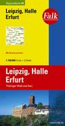 Falk Regionalkarte 09. Leipzig, Halle, Erfurt. ...