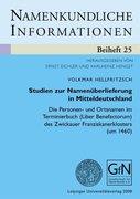 Hellfritzsch, Volkmar: Studien zur Namenüberlie...