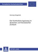 Klingenfuss, Henning: Der Kontrahierungszwang i...