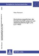 Vorschaubild von Rösmann, Peter: Kontrahierungspflichten der Kreditwirtschaft aufgrund von Selbstverpflichtungen und 21 AGG