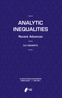 Pachpatte,  B. G.: Analytic Inequalities