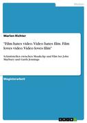Richter, Marlen: Film hates video. Video hates ...