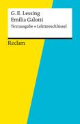 eBook:  Textausgabe  Lektüreschlüssel. Gotthold Ephraim Lessing: Emilia Galotti