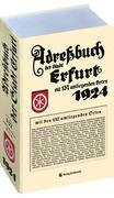 Adreßbuch Einwohnberbuch Erfurt 1924 + 137 Orte