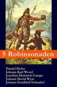 eBook:  5 Robinsonaden: Robinson Crusoe  Robinson