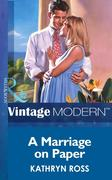 eBook: Marriage on Paper (Mills & Boon Modern)