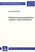 Pech, Klaus-Ulrich: Kritik der psychoanalytisch...