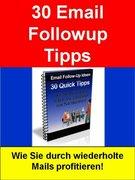 Sigmund Schmid: 30 Email Followup Tipps