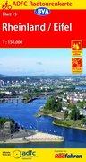 ADFC-Radtourenkarte 15 Rheinland Eifel 1 : 150 000
