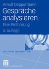 Deppermann,  Arnulf: Gespräche analysieren