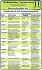 Naturheilmedizin Set. Medizinische Taschen-Karte