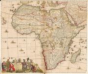 Danckert, Justus: Historische Landkarte: Afrika...