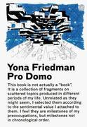 Friedman, Yona: Pro Domo