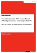 Melcer, Martin: Gesundheitsreform 2007. Verabsc...