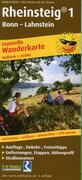 Wanderkarte Rheinsteig 1, Bonn - Lahnstein 1 : ...